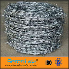 Low carbon steel ,single twisted, barbed wire used in railway