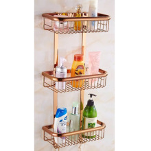 Meiya bathroom accessories wall mounted Brass three tier soap basket