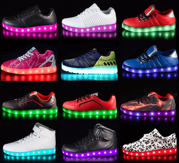 men women kids rainbow shining led shoes