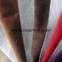 100% polyester faux micro suede fabric for shoes