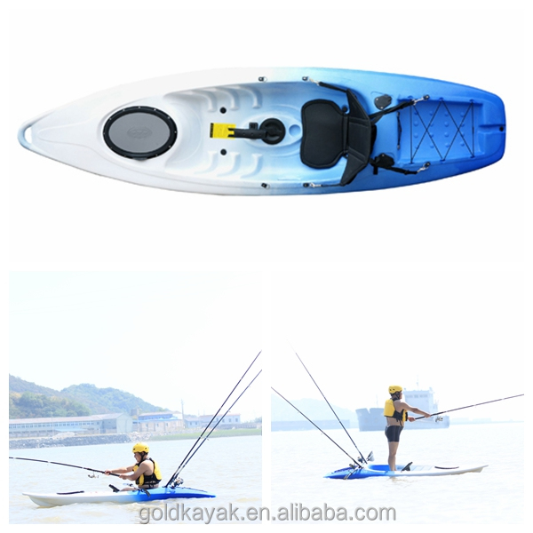 large kayak factory plastic single sit on top fishing kayak with wheel at the back single canoe single boat