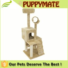 Adorable wooden cat tree, cat toy sisal tree, cat scratching tree cat condo