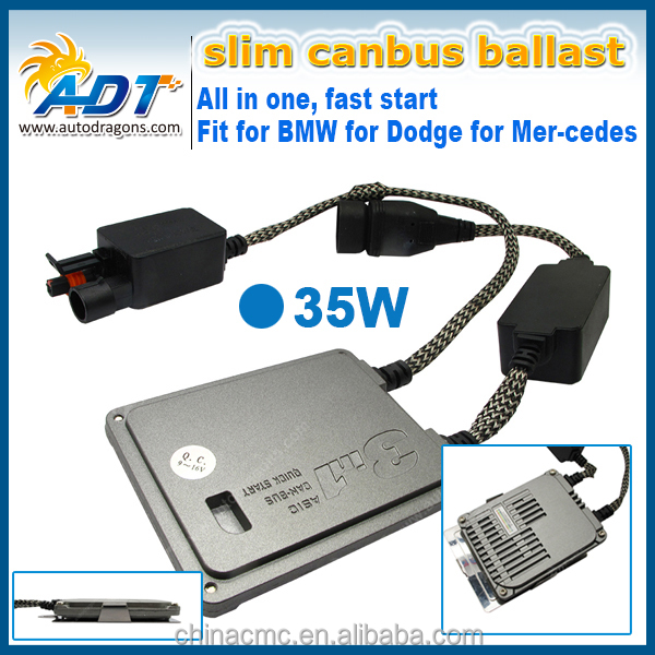 New design model SLIM CANBUS 12V 35W 3 in 1 HID Xenon kit with Canbus ballast