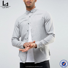 latest shirt designs for men slim fit button-down colla terry cotton shirt