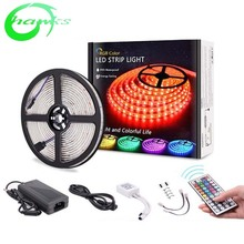 china led light strip 12v 5m <strong>rgb</strong> ip65 waterproof <strong>rgb</strong> led strip kit 5050 +5A power supply+24 key (44key) controller