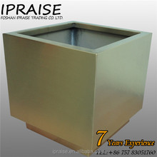 Top Quality Big Size Metal 304 Stainless steel Square Flower Pot Stands for Garden