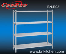 Restaurant stainless steel 4 layers plate rack/ kitchen shelf for hotel BN-R02