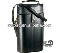 Noble OEM pu leather wine carrier for brand wine package