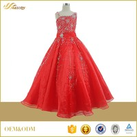 Streamline beaded red ball gown bandage girls dress names with picture