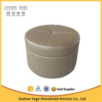 Home furniture modern leather single ottoman for sale