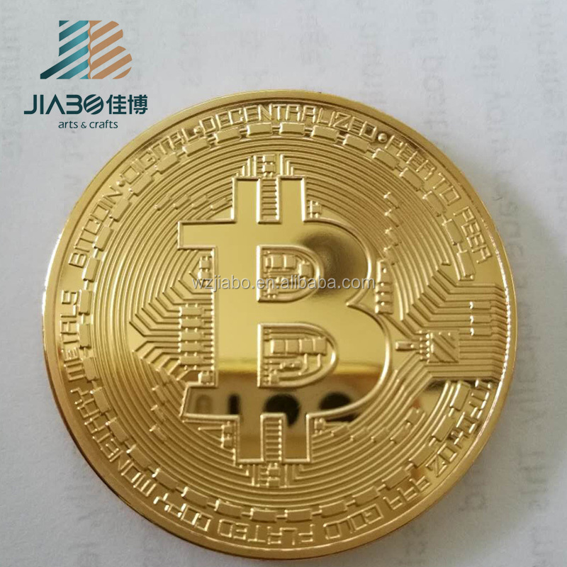 China factory <strong>custom</strong> made gold plating bitcoin coins for Wholesale