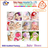 Wholesale crochet flower elastic lace baby headbands