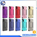 factory price cell phone display case kickstand hybrid case for iphone 8