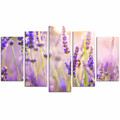 Wall Decoration Lavender Canvas Print/Purple Flower Wall Art/Blossom Canvas Painting