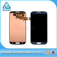 original blue LCD display For Samsung S4 mini i9195 i9190 Touch Screen with Digitizer +Bezel Frame