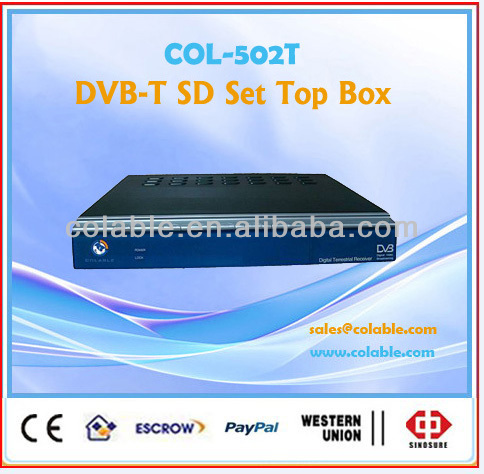 dvb-t mpeg2 set top box,dvbt decoder,cofdm,qam ,qpsk tv decoder COL502T
