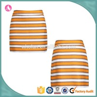 woman colorful stripe mini skirt -young ladies cute sexy stripe skit