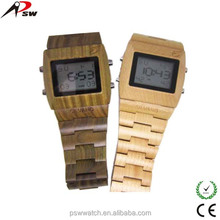 LED background lights big screen the newest digital wood watch
