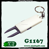 Golf pitch repair tools with keyring for green repair