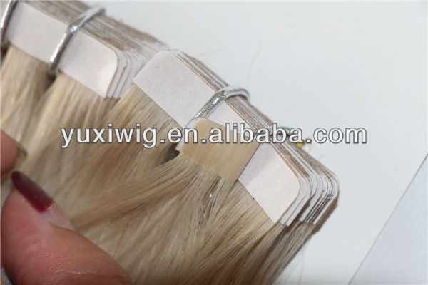 Hot sale indian human remy tape in hair extensions 40 pcs