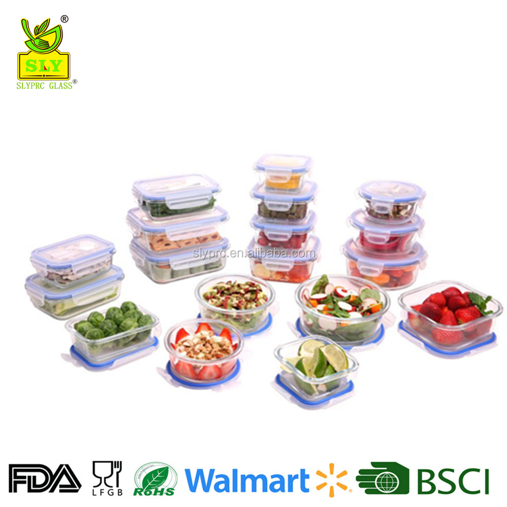 Eco-friendly microwave oven safe glass containers for food storage with lids for home and kitchen