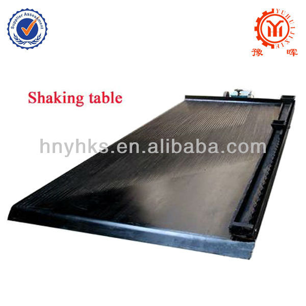 Yuhui mining shaking table for gold recovery plant with best price