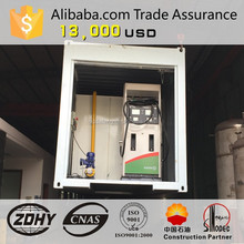 mobile gasoline station tank 40ft container and Fuel Dispenser,Pump