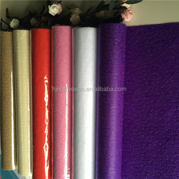 roller blind fabric embossed non woven for flower wrapping, decoration