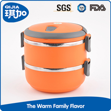 Hot 2 layer plastic stainless steel food container/food storage container/tiffin carrier