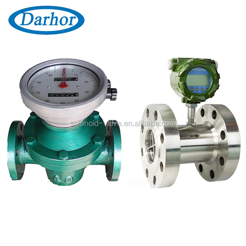 Darhor high viscosity RS485 output diesel oil flow meter oval gear oil flow meter