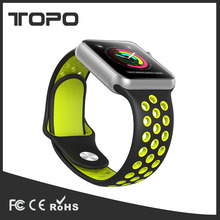 Hot selling colorful soft silicone sport bracelet band smart watch for men women