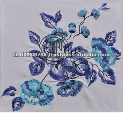 Thailand Fashion Design Sequin Embroidered Fabric