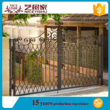 Alibaba modern Entrance main garden arch wrought iron gate wrought iron sliding gate / single swing iron gate / aluminum gate