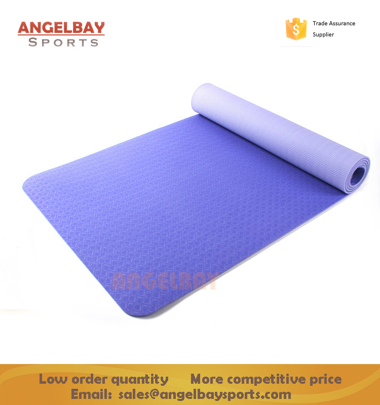 <strong>Eco</strong> Friendly High Quality Two layer Non-slip Gym Exercise Two tone TPE Yoga Mat
