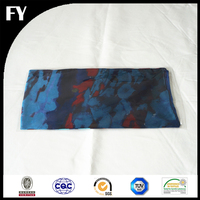 Custom digital printed wholesale 100% silk satin scarf head cover
