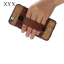 Elegant handle wood grain material PU leather cover for Lenovo ZS571 KL with card slots on the back