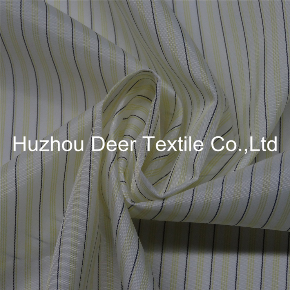 Black Yellow White Striped Patterned Woven Lining Fabrics
