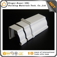 China Manufacturer Plastic PVC Square Rain Water Gutter Malaysia Kenya Wholesale Price Downspout Fittings