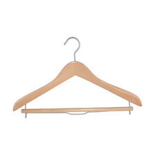 Solid Wooden Thick Coat Suit Hanger With Locking Bar