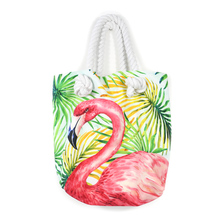 Brand New Flamingo Pattern Jungle Beach Canvas Tote Bags