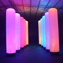 2m outdoor advertising led inflatable pillar led light inflatable tube