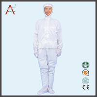 ESD safety work uniforms coveralls with hood can match boots with HACCP certified for oil field ,chemical industry ,bioengineeri