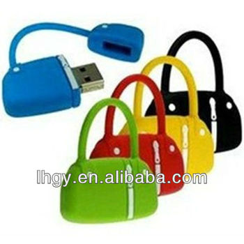Popular 2gb pvc handbag pendrive wholesale OEM