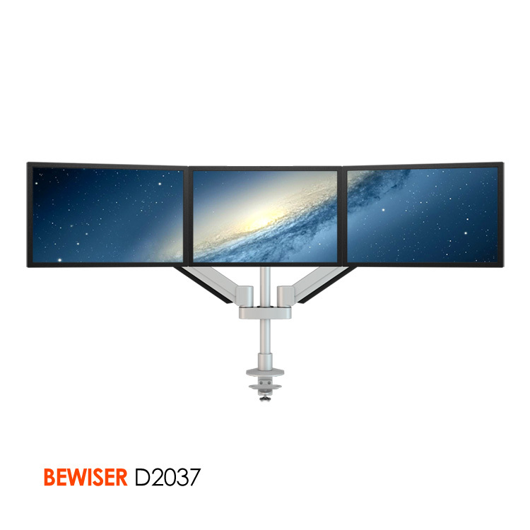 adjustable folding triple lcd stand triple monitor stand bewiser d2034