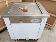 Hot sale single flat pan thailand rolled fried ice cream machine