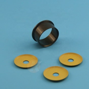 Modified PTFE material gasket ptfe disk filled PI/carbon/bronze for pneumatic pump piston seal