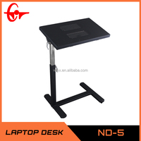 L shape study multifunctional white adjustable laptop table