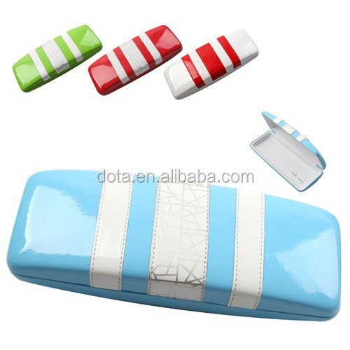 In high quality clamshell hard metal eyeglasses case , optical case eywear for hot sale