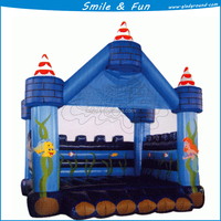 2015 Beautiful inflatable castle slide for kids