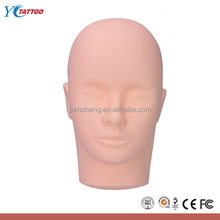3D tattoo Make up mannequine head skin For tattoo practice